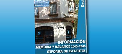 MEMORIA Y BALANCE 2015 – 2016